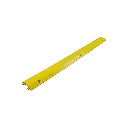 XBSXP CJ-Xin Innenkabelschutz, Kabelkanal extra langes Gelb mit sichtbaren gelben Streifen Kunststoff-Bodenkabelabdeckung Hunderampen (Farbe: Gelb, Größe: 98,5 * 9,5 * 2CM)
