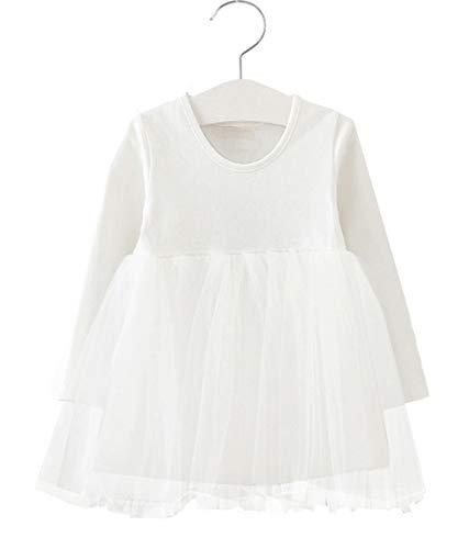 GSVIBK Toddler Tutu Dress Long/Sleeveless Baby Girl Cotton Tulle Dresses Infants Sundress Summer 9Months White 9440