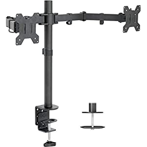 VIVO Dual LCD Monitor Desk Mount Stand Heavy Duty Fully Adjustable fits 2 /Two Screens up to 27″ (STAND-V002)