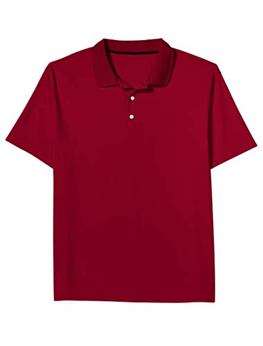 Amazon Essentials Men's Big & Tall Quick-Dry Golf Polo fit by DXL, Red, 6XLT