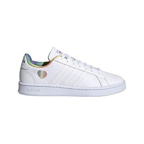 adidas Grand Court, Zapatillas de Tenis Mujer, FTWBLA/FTWBLA/FTWBLA, 38 EU