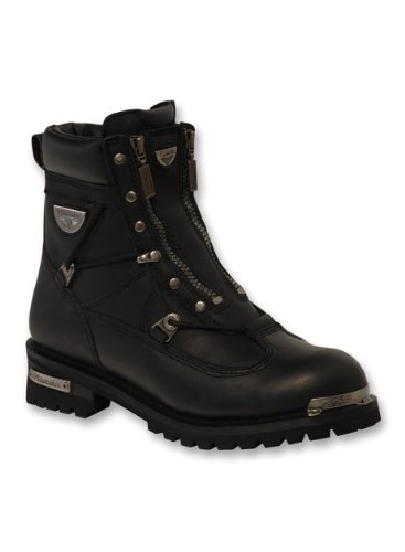 Milwaukee Motorcycle Clothing Company MB44020 Men's Throttle Motorcycle Boots (Size 10),Black