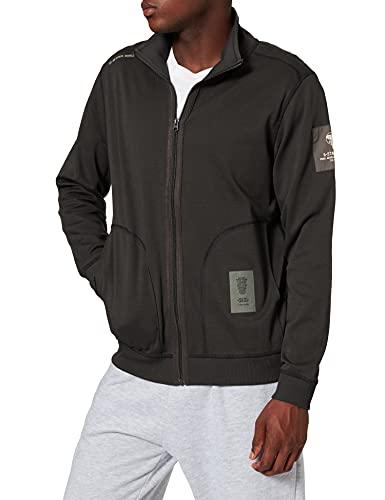 G-STAR RAW Mens Sleeve Badge Zip Tweeter Sweatshirt, Raven C584-976, XL