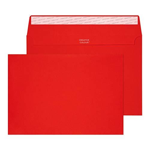 Creative Colour 45306 Farbige Briefumschläge Haftklebung Pillar Box Rot C5 162 x 229 mm 120g/m² | 25 Stück