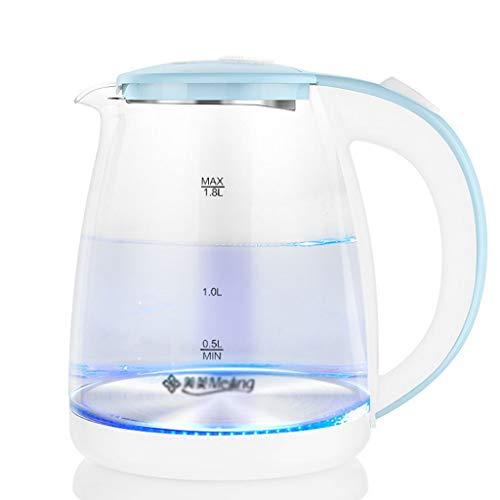 Fikujap Bouilloire électrique, avec Acier Inoxydable intérieur, BPA Gratuit, ébullition, Auto-Off, Protection à feu à ébullition, pour la Cuisine à la Maison,A