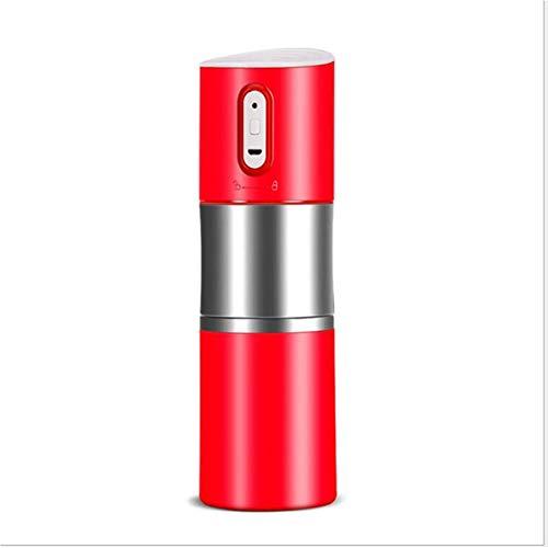 UMTGE koffiezetapparaat One-Touch volledig automatische roestvrijstalen koffiemachine voor koffiebonen, zwart Rood
