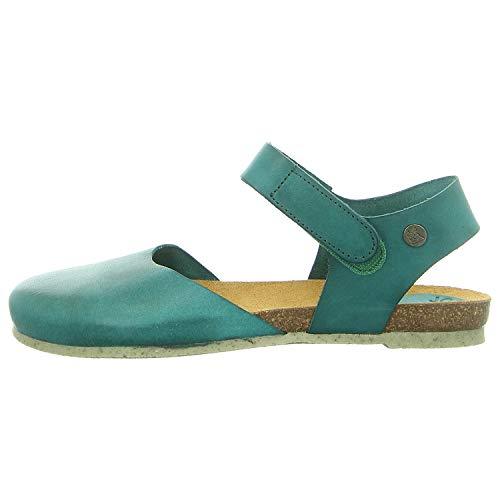Jonny's L-2154-19 - Platte sandalenDames Sandalen - Kleur: Blau - Maat: 38