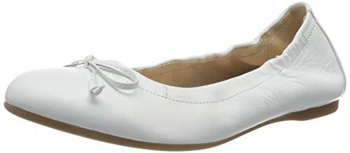Gabor Shoes Damen Casual Geschlossene Ballerinas, Weiß (Weiss 21), 39 EU