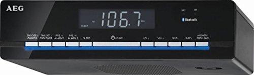 AEG KRC 4361 Bluetooth-PLL-UKW-Radio, LCD-Display, 3-Stufen-Dimmer, 30 Senderspeicher
