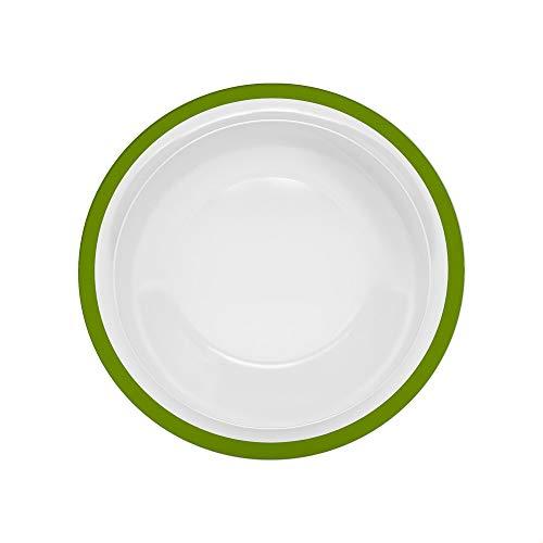 Ornamin Teller tief Ø 22 cm Rand grün Melamin (Modell 505) / Kunststoffteller, Speiseteller, Suppenteller