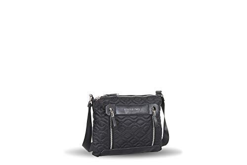 Devota&Lomba bolso cruzadero doble acolchado negro (22x10x18cm)