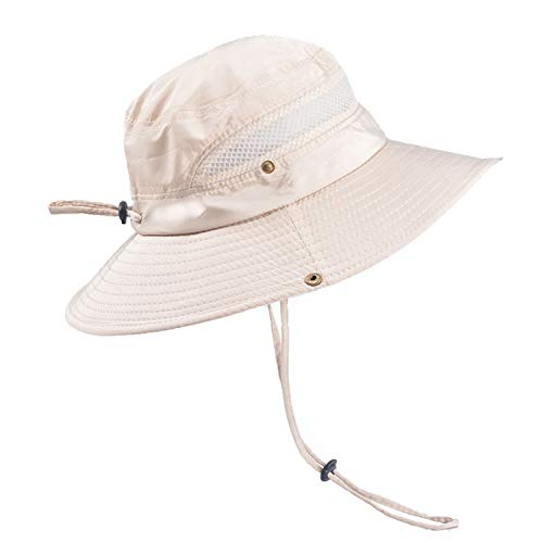 TAGVO Sombrero Ancho Sombreros para el Sol Protección UV Sombreros de Pescador Acampar al Aire Libre Senderismo Viajes Sombrilla Sombrero de Verano Visor Plegable Gorras para Hombres Mujeres