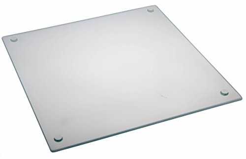 Clear Glass Cutting Board - Non-Slip, Shatter-Resistant, Durable, Stain-Resistant, and Dishwasher Safe - 12 x 15.75 inches