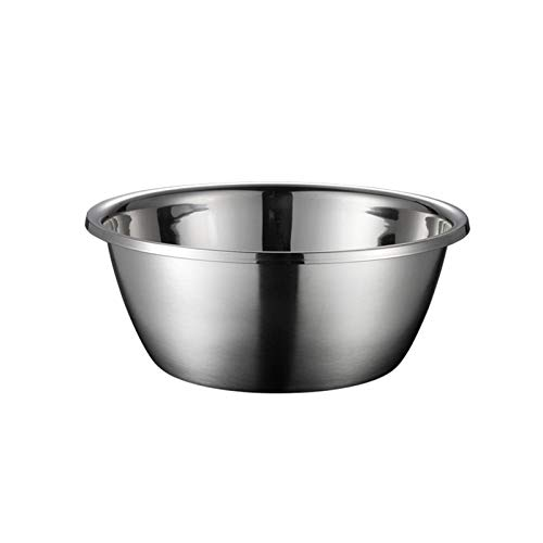 ZHENZEN 304 stainless-steel mixing bowl Multifunctional mixing bowl salad bowl High capability Stackable Reduce space for storing Easy to wash (Size : 22cm)