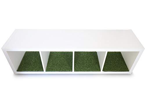 Primaflor - Ideen in Textil Kunstrasen Regaleinsatz passend für das IKEA KALLAX Regal - 38 x 33cm Regaleinlage Dekoration