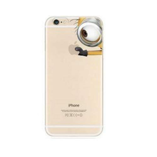 Shot Case Cover in Silicone per iPhone 6/6S Minions N. 6Kevin Bob Dave Stuart Banana Mela Protezione Gel Morbida Trasparente