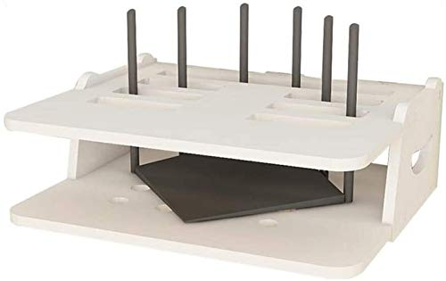 GJJSZ Rack de enrutador Estantes Pantalines de Paredes montadas en la Pared, Caja de Almacenamiento enrutador, Multiusos/Hermosos Materiales de Ahorro de Espacio/de protección Ambiental/Impermeable y