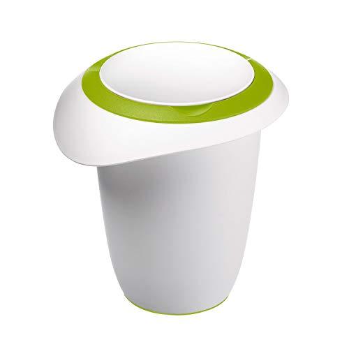 Westmark Recipiente para batir con Tapa de Dos Partes, 1 l, con Pico, Plástico, Blanco/Verde Manzana, 3151227A