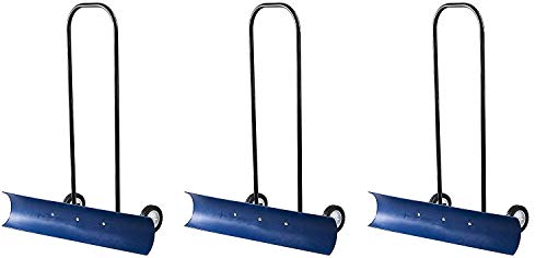 Find Discount The Snowcaster 30SNC 36-Inch Bi-Directional Wheeled Snow Pusher, Blue (Pack of 3)