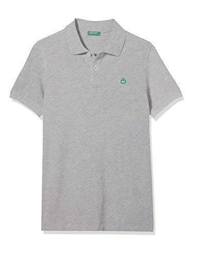 United Colors of Benetton Jungen H/s Polo Shirt Poloshirt, Grau (Melange Gray 501), One Size (Herstellergröße: EL)