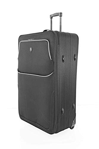 "Large 29"" Super Lightweight 2 Wheeled Suitcase Trolley Luggage Hold Bag - U660 (Black)"