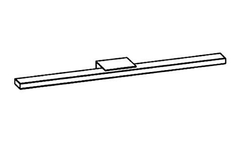 PELIPAL Zubehör Beleuchtung zu Funktionsspiegel (LS-E) / Chrom Glanz / 60 cm