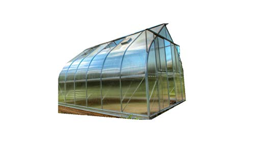 Climapod 9'x14' Greenhouse, 6MM Virtue Complete KIT (Twin-Wall Polycarbonate, All Aluminum Heavy Duty Frame with Vents and Sliding Doors)