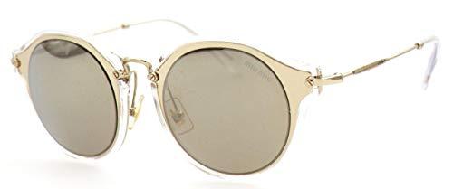 Miu Miu Damen 0MU51SS ZVN1C0 49 Sonnenbrille, (Pale Light Brown Gold)