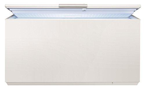 AEG AHB73724LW Gefriertruhe / 368 L / LowFrost – weniger Eisbildung / Flexibles Lagerungssystem / Quick-Türöffnung / Temperaturalarm / Rollen