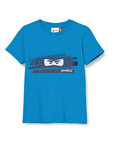 Lego Wear Jungen Lwtobias Ninjago Sun Activated T-Shirt, Blau (Light Blue 532), (Herstellergröße:128)