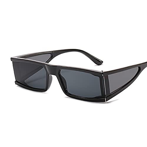 gafas de sol Moda vintage gafas de sol mujeres diseñador retro rectángulo gafas de sol hembra una pieza espejo punk (Lenses Color : LeopardBrown)