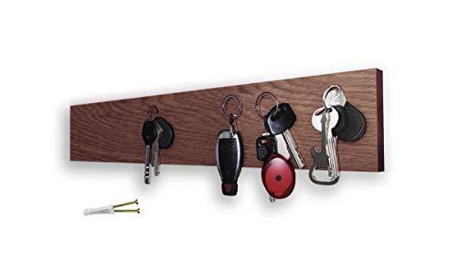 M-KeyCases Schlüsselbrett Aus Eiche Holz Magnetisch Wand-Organizer Dekorativer Schlüssel-Board Hakenleiste Schlüsselleiste Vintage Decor Haus-tür Küche Fahrzeug-schlüssel Aufhänger