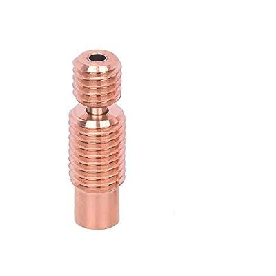 3Dman Bi-Metal Heatbreak Copper Alloy for V6 Hotend Volcano Prusa I3 MK3/MK3S Heat Break 1.75mm Filament (Thread)