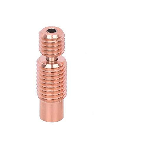 3Dman Bi-Metal Heatbreak Lega di Rame per V6 Hotend Vulcano Prusa I3 MK3/MK3S Heat Break 1,75 mm Filamento (Filetto)