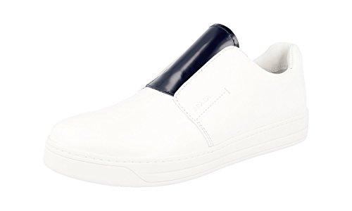 Prada Damen Mehrfarbig gebürstetes Spazzolato-Leder Leder Sneaker 3S6047 37.5 EU