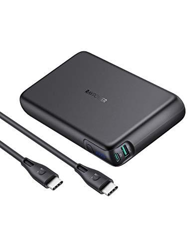 モバイルバッテリー RAVPower 90W PD対応 30000mAh 超大容量 USB-A+USB-C 2ポート PPS/iSmart3.0/PD3.0/QC3.0対応 MacBook/ノートパソコン/Switch/iPad/iPhone/Android等対応 PSE認証済 RP-PB232 (Black)