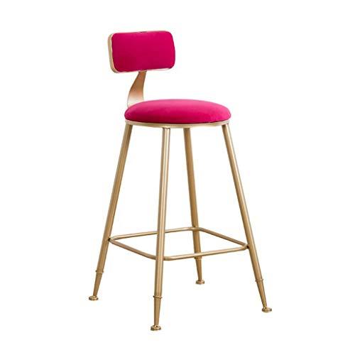 Tuqia Meubel, metalen barkruk, rugleuning, hoge kruk, restaurant, thee, dessert shop, reception, stoel, ronde zitting met pedaal, 7 kleuren