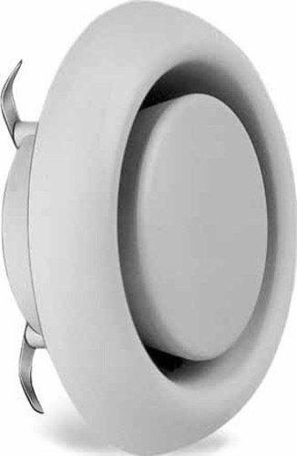 Helios Abluft-Tellerventil MTVA/KTVA 75/80 für KWL-Geräte, Tellerventil:Kunststoff-Tellerventil