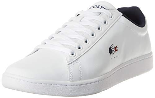 Lacoste Herren Carnaby EVO TRI1 SMA Sneaker, Weiß (Wht/NVY/Red), 42.5 EU