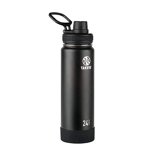 Takeya 51129 Kids Insulated Water Bottle w//Straw Lid Sky 14 Ounce