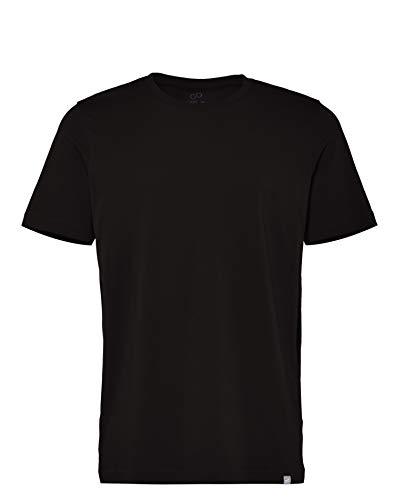 CARE OF by PUMA Herren-T-Shirt aus Baumwolle mit Rundhalsausschnitt, Schwarz (Black), L, Label: L