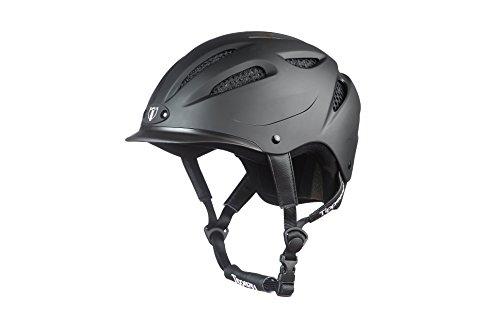 Tipperary Sportage Equestrian Toddler Lightweight High-Density Sports Matte Black Riding Helmet