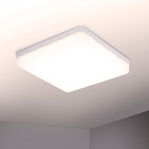 Yafido Plafoniere da Soffitto 36W 3240lm Bianco Caldo LED Lampada Quadrata Sottile Plafoniera per Cucina, Cantina, Garage, Balcone, Soggiorno, corridoio