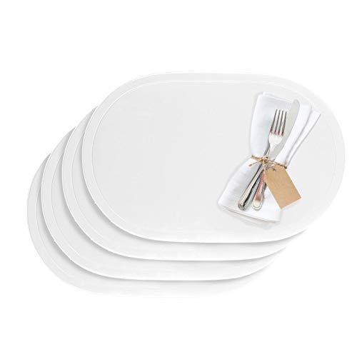 Westmark Tischsets/Platzsets, 4 Stück, 45,5 x 29 cm, Vinyl, Weiß, Saleen Edition: Fun