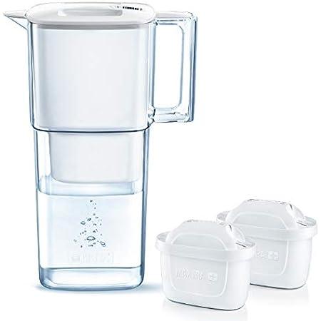 ブリタ 浄水器 ポット 浄水部容量:1.1L(全容量:2.2L) リクエリ ポット型 浄水器 マクストラプラス カートリッジ カートリッジ 2個付き (1個増量) 【日本正規品】塩素 水垢 不純物 除去