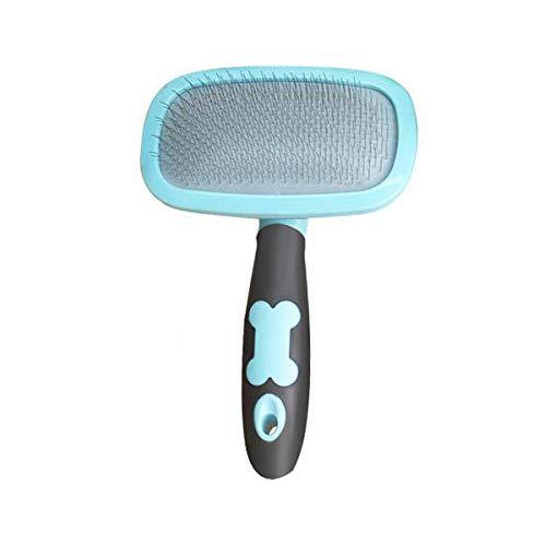 Makerfire Cepillo para Perros de Pelo Largo Pelo Corto, Cepillos para Gatos, 360 Degree Rotation Flexible Slicker Brush for Mascota Azul