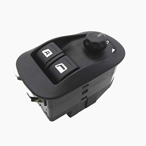KUANGQIANWEI Botonera elevalunas La Ventana de energía eléctrica botón Interruptor Principal en Forma for el Peugeot 206 CC 206 206SW 306 206 berlina 2007-2016 6554.WA 6554WA