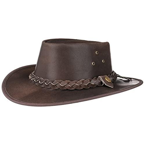 Scippis - Lederen hoed Hooley - Brown, S/55-56cm