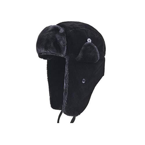 Sombrero de Bombardero Unisex Sombreros de esquí al Aire Libre para Clima frío Sombrero de trampero a Prueba de Viento de Invierno Gorro de Ciclismo cálido