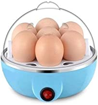 ZOSOE Stainless Steel 7 Egg Cooker, Egg Boiler, Egg Poacher Electric, Egg Steamer, Egg Boiler Electric Automatic Off for Steaming, Cooking, Boiling and Frying Egg Boiler with Egg Tray (Multicolor)